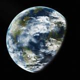 Terra da spazio. Elementi di questa immagine ammobiliati dalla NASA. Immagini Stock Libere da Diritti