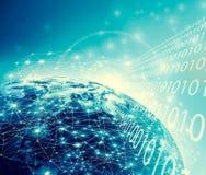 Terra da spazio Migliore concetto del Internet del commercio globale dalla serie di concetti Elementi di questa immagine ammobili Fotografia Stock Libera da Diritti