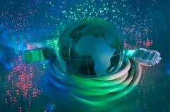 Terra da tecnologia do Internet Imagem de Stock
