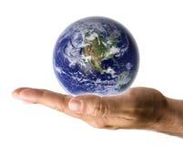Terra da terra arrendada da mão Foto de Stock Royalty Free