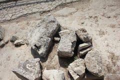 Terra da textura do fundo das rochas áspera fotos de stock