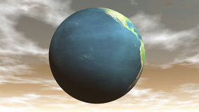 Terra dando laços sem emenda - 3D rendem filme