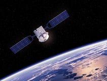 Terra de órbita satélite Fotos de Stock Royalty Free