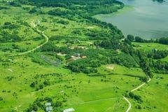 Terra de acima Fotos de Stock Royalty Free
