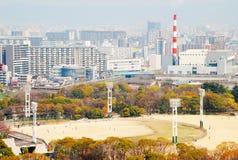 Terra de basebol do parque do castelo de Osaka Imagem de Stock