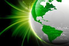 Terra de Digitas Imagem de Stock