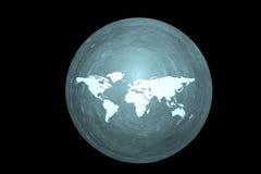 Terra de Digitas no movimento Rendição 3D agradável Fotos de Stock Royalty Free