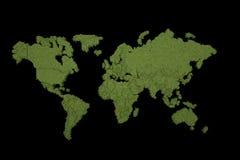 Terra de Digitas no movimento Rendição 3D agradável Foto de Stock Royalty Free