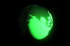 Terra de Digitas no movimento Rendição 3D agradável Fotografia de Stock