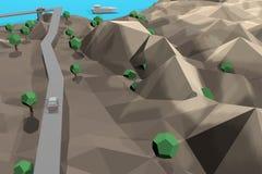 Terra de Digitas no movimento Rendição 3D agradável Fotografia de Stock Royalty Free