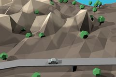 Terra de Digitas no movimento Rendição 3D agradável Imagem de Stock Royalty Free