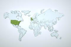Terra de Digitas no movimento Rendição 3D agradável Imagens de Stock Royalty Free