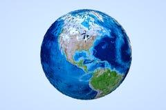 Terra de Digitas no movimento Rendição 3D agradável Fotos de Stock