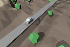 Terra de Digitas no movimento Rendição 3D agradável Foto de Stock