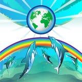 Terra de Eco Foto de Stock