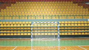 Terra de esportes com portas para o handball ou futsal Foto de Stock Royalty Free