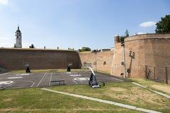 Terra de esportes no território da fortaleza de Belgorod, Sérvia Fotografia de Stock Royalty Free