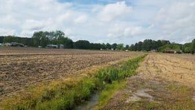 Terra de exploração agrícola Foto de Stock