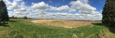 Terra de exploração agrícola Fotografia de Stock Royalty Free