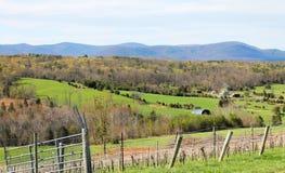 Terra de exploração agrícola bonita Fotografia de Stock