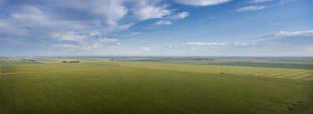 Terra de exploração agrícola da pradaria Foto de Stock Royalty Free