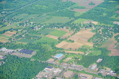 Terra de exploração agrícola de Connecticut foto de stock royalty free