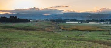 Terra de exploração agrícola de Nova Zelândia fotografia de stock royalty free