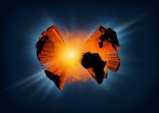 Terra de explosão do planeta Imagens de Stock Royalty Free