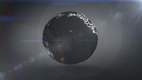 Terra de giro feita das rodas denteadas e das rodas ilustração stock