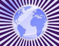 Terra de matriz gerada por computador ilustração royalty free