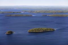 A terra de mil lagos Imagem de Stock Royalty Free
