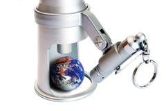 Terra de observação, olho no mundo Fotografia de Stock Royalty Free