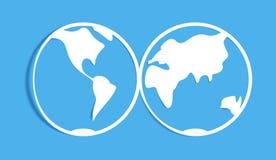 Terra de papel Foto de Stock