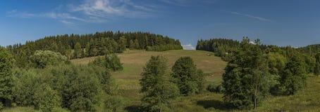 Terra de pasto perto da cidade de Kraslice em Boêmia ocidental imagem de stock royalty free