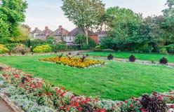A terra de recreação velha do tribunal em Barnet fotografia de stock