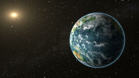 Slanet Earth rotate in space Stock Footage