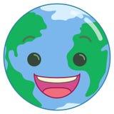 Terra de sorriso feliz dos desenhos animados Foto de Stock