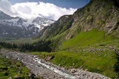 Terra de Stilupp, alpes de Zillertaler, Áustria Fotografia de Stock Royalty Free