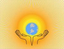 Terra de Sun Ilustração do Vetor