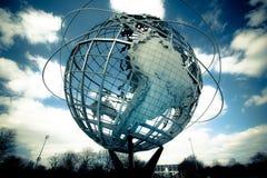 Terra de Unisphere da feira de mundos Fotos de Stock Royalty Free
