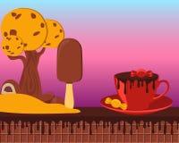 Terra del cioccolato di fiaba Fotografia Stock Libera da Diritti