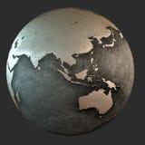 terra del ferro 3D (Asia) Immagine Stock