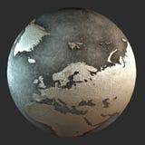 terra del ferro 3D (Europa) Fotografie Stock Libere da Diritti