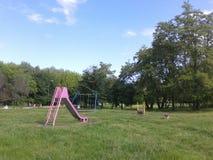 Terra del gioco del parco Fotografia Stock