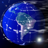 Terra del globo del mondo Fotografie Stock Libere da Diritti