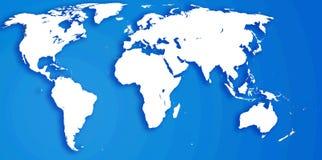 Terra del mondo della mappa dell'illustrazione Immagini Stock