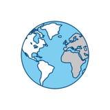 Terra del mondo isolata Fotografie Stock Libere da Diritti