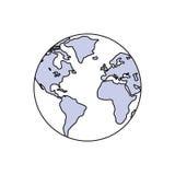 Terra del mondo isolata Immagini Stock