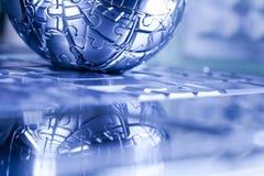 Terra del pianeta dal puzzle Fotografia Stock Libera da Diritti