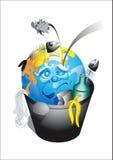 Terra del pianeta in immondizia Fotografie Stock